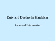 Duty and Destiny in Hinduism