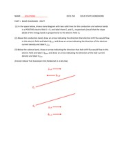 EECS 202 Homework, Part I, Solid State Engineering SOLUTIONS