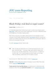 Black Friday_ real deal or super scam_ _ JOU 2100 Reporting
