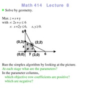 Lecture 8 on Linear Programming