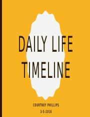 Daily Life Timeline