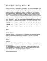 Randomness and Simulations.pdf - Project Option 2 Fore ...