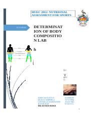 NUTRIONAL ASSESSMENT 4 SPORTS