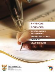 SBA Physical Science Learner Guide