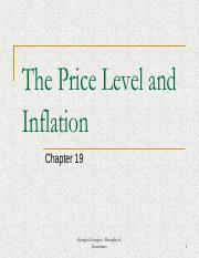 Week 8 - The Price Level and Inflation (Chapter 19)