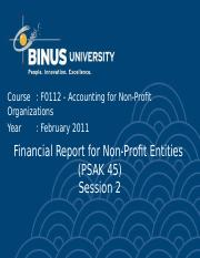 F01120000220104002F0112 P02 Financial Report for Non-Profit Entities