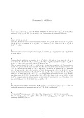 Homework 10 Solution on Real Analysis Fall 2014