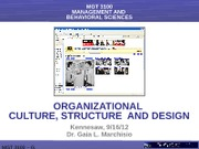 ORGANIZATIONAL, CULTURE, STRUCTURE  AND DESIGN