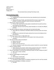 Environmental Science Spring Final Study Guide.pdf