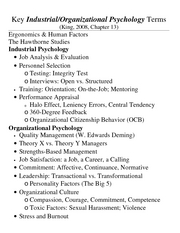Chapter 13 - Industrial Organizational Psych