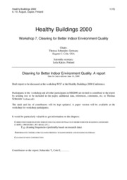 Healthy buildings 2000 Schneider