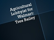 Agricultural Lobbyist for Walmart