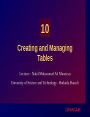Les10_Creating and Managing Tables.ppt