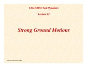 SD-Lecture12-Strong-Ground-Motions