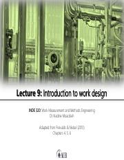 Lecture 9 - Introduction to work design.pdf