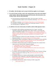 Study Checklist - Chapter 24.docx
