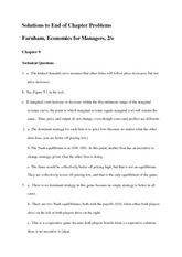 Solutions to End of Chapter Problems - chap 9-10