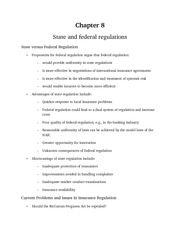 State and federal regulations notes from powerpoint