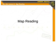 Lesson 09 - Map Reading