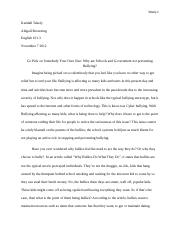 Bullying Argument Paper