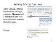 Matlab functions supplement