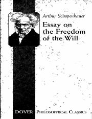 Schopenhauer.Freedom of the Will.pdf
