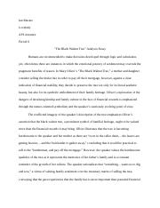 The Black Walnut Tree Essay