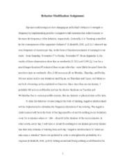 behavior modification paper behavior modification paper eda wang  7 pages behavior modification paper