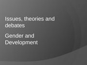 Gender & Development