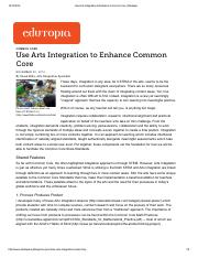 Use Arts Integration to Enhance Common Core _ Edutopia