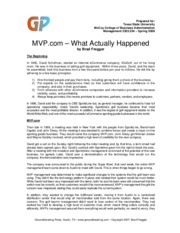 MVP_What Happened