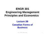 Lecture 2 B-Canadian Forms of Business (1)
