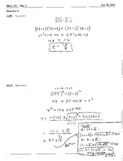 Math 191 Test 1 Solutions