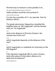 Quiz 5 Answers Measuring Stars