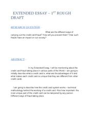 credit essay week Week 5 lab systematics essay bis 245 week 5 essay this week name student last name course code course name course description course credit hours.