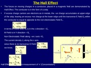 Hall Effect & Moving Charge as a source of M Field