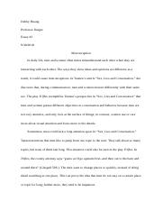 essay 2 Trifles n sex lies and conversation.doc