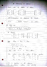 Subtraction of Matrices Class Notes 3