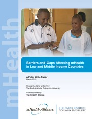 Barriers to mHealth White Paper