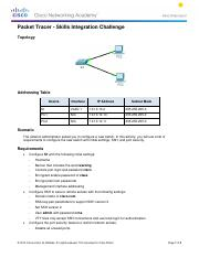 2.3.1.2 Packet Tracer - Skills Integration Challenge Instructionsz