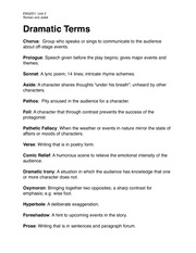 ENG2D1-Dramatic Terms