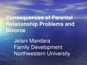 FAMILY DEVELOPMENT (Effects of Divorce and Fathers Absence)(2)