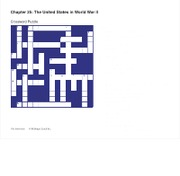 Chapter 25 Crossword Puzzle
