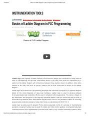 Basics Of Ladder Diagram In Plc Programming Instrumentation Tools Pdf Basics Of Ladder Diagram In Plc Programming Instrumentation Tools Course Hero