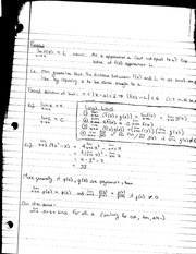 MATH 1231 Lecture Notes on Limits