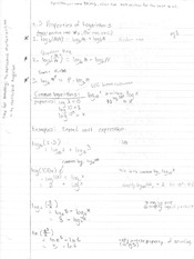Notes on Properties of Logarithms