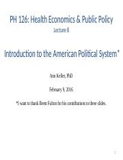 7. Introduction to the American Political System 02.09.16.pptx