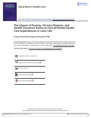 The Impact of Poverty Chronic Illnesses and Health Insurance Status on Out of Pocket Health Care Exp
