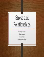 Stress and Relationships