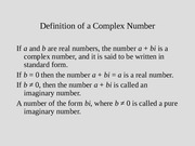 complexx Numbers
